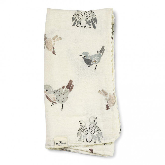 Bamboo Muslin Blanket Feathered Friends