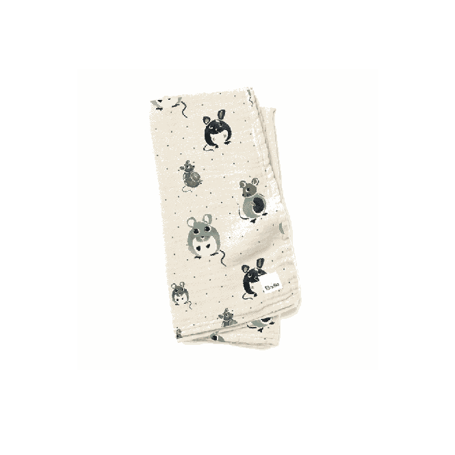 Bamboo Muslin Blanket Forest Mouse