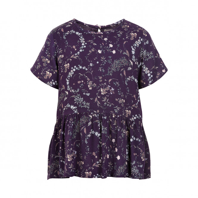 Blus Wimsical Print Nightshade