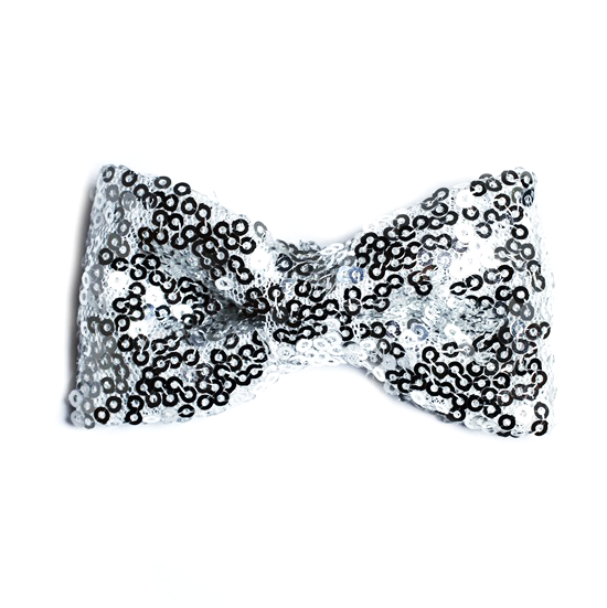 Rosett Clip Glitter Silver