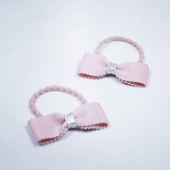 Hårsnodd Rosett 2-pack Light Pink