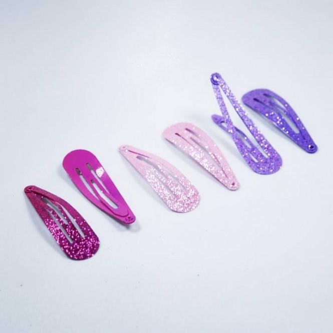 Hårspänne Glitter Rosa/Lila