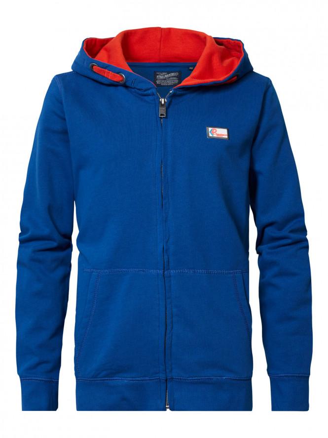 Hoodie Zip Imperial Blue