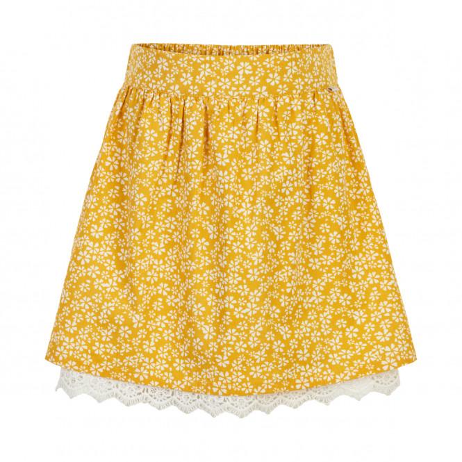 Kjol med scrunchie Yellow