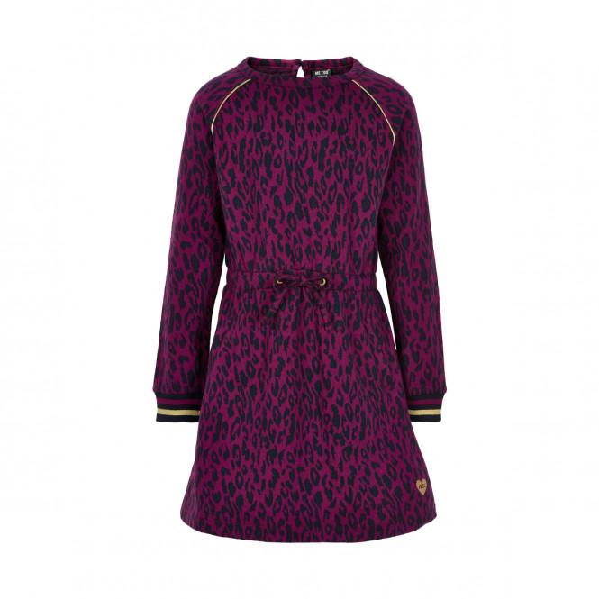 Klänning Jaquard Magenta Purple