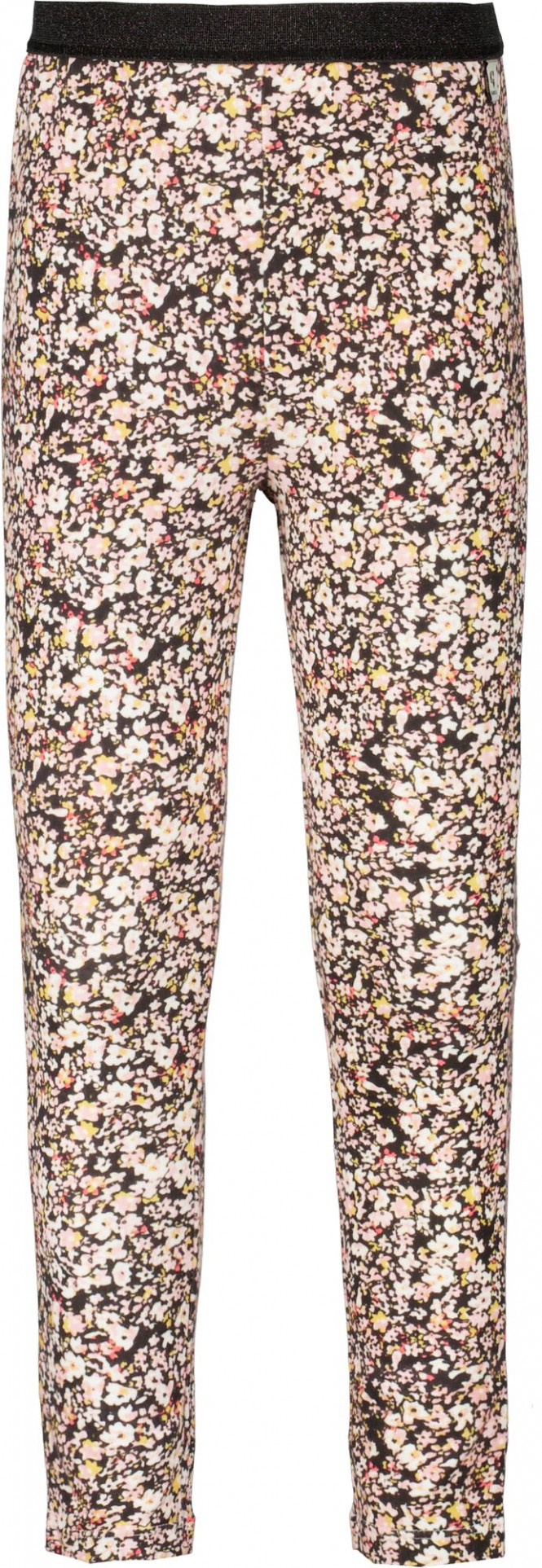 Legging Blommor Dark Grey