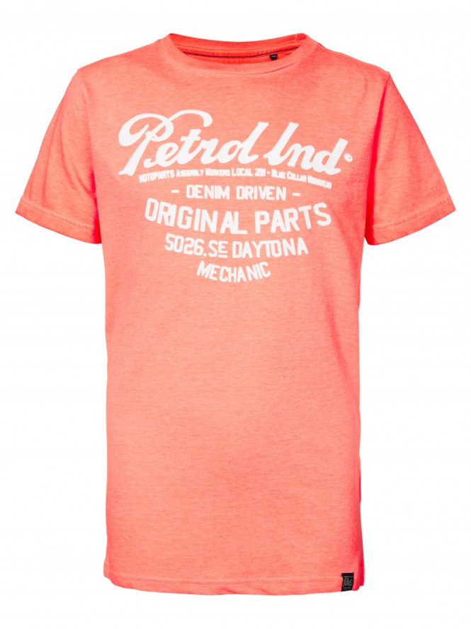 T-shirt Petrol Fiery Coral