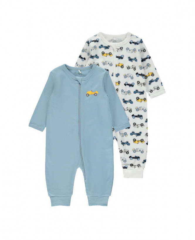 Pyjamas 2-pack Zip Bilar