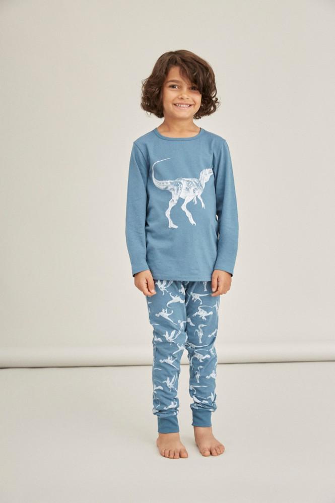 Pyjamas Dinosaur Real Teal