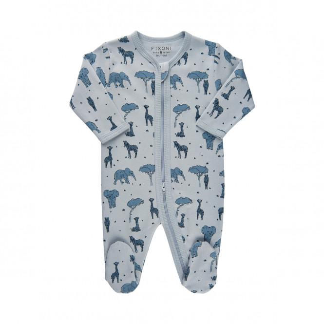 Pyjamas Med Fot Djur Blå