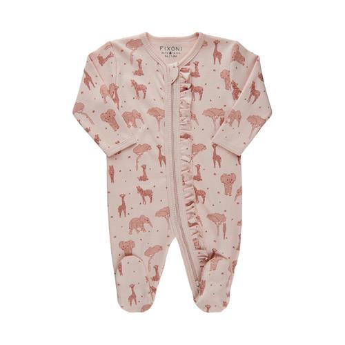 Pyjamas Med Fot Djur Rosa