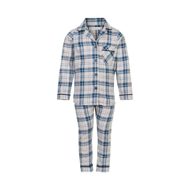 Pyjamas Set Rutig Faded Denim