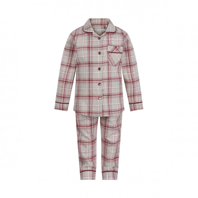 Pyjamas Set Rutig Woodrose