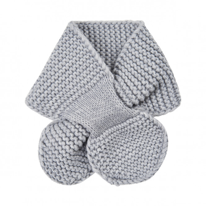 Scarf Stickad Light Grey