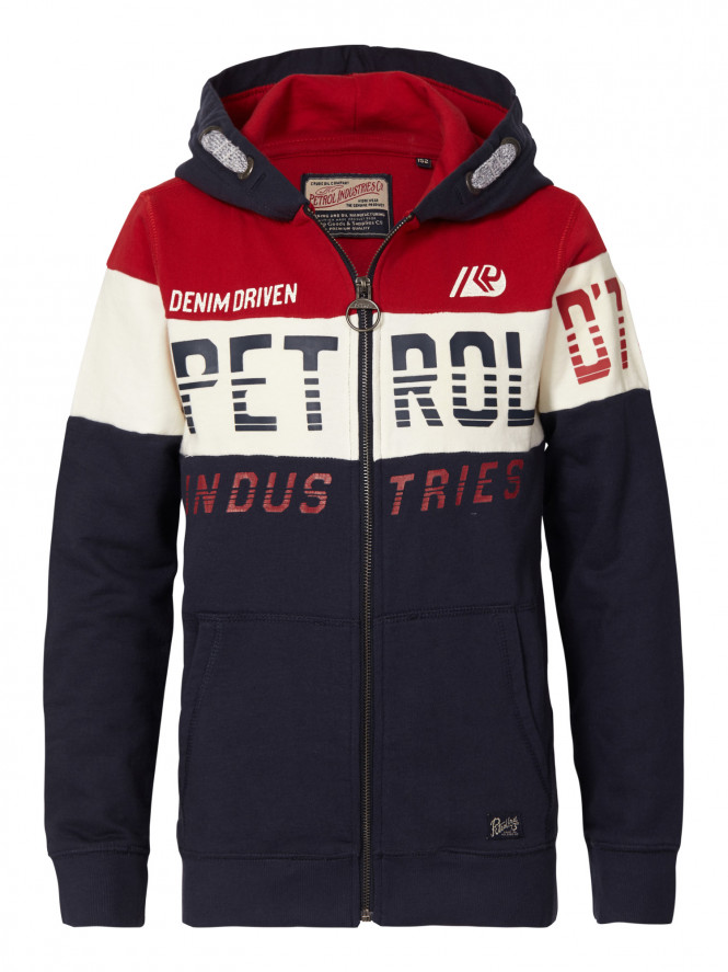 Sweater Hooded Fire Red