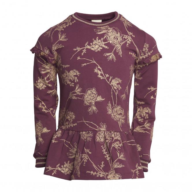 Sweatshirt Med Guld Vinröd
