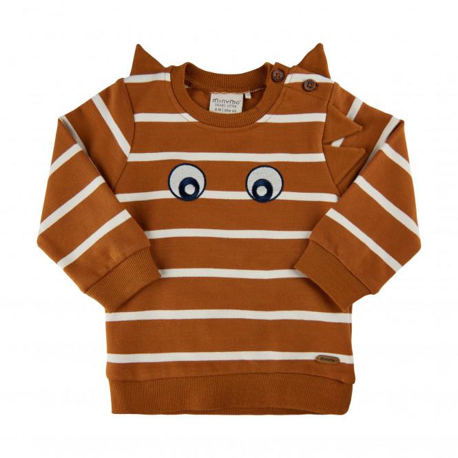 Sweatshirt Randig Glazed Ginger