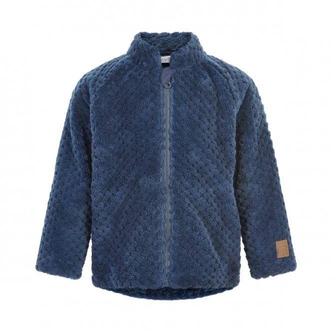 Teddy Jacket w.Zipper Ombre Blue