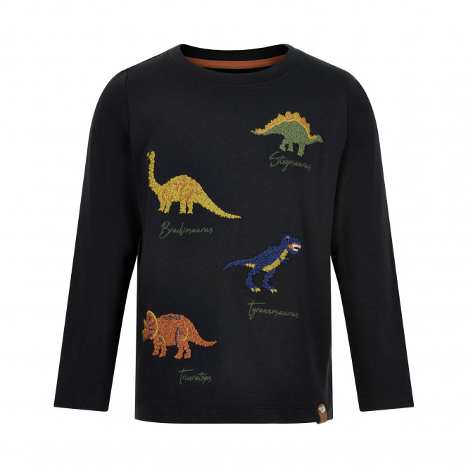 Tröja Dinosaur Broderad Svart