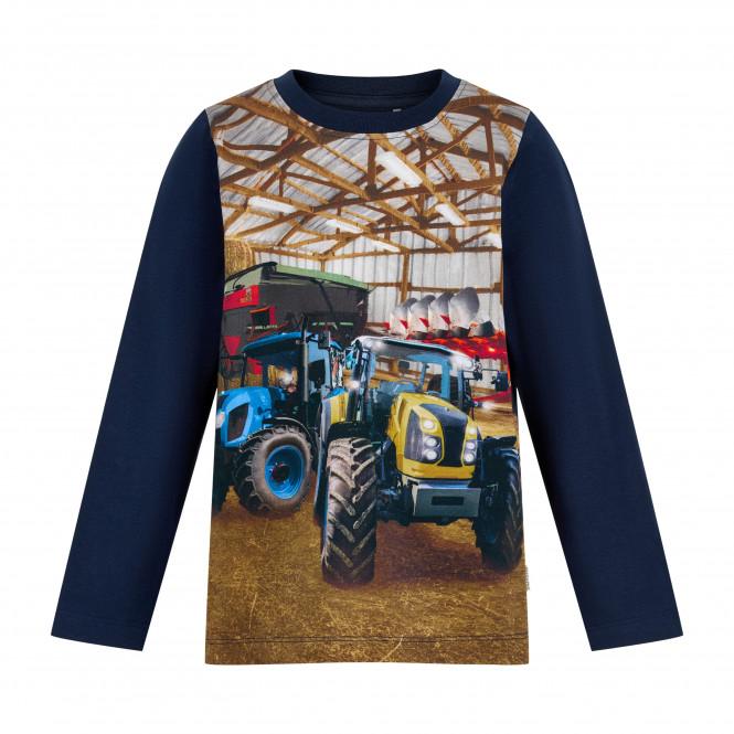 Traktortröja Maskinhall Blå