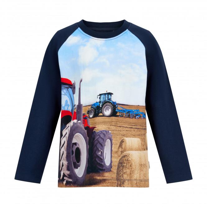 Traktortröja Skörd Blå