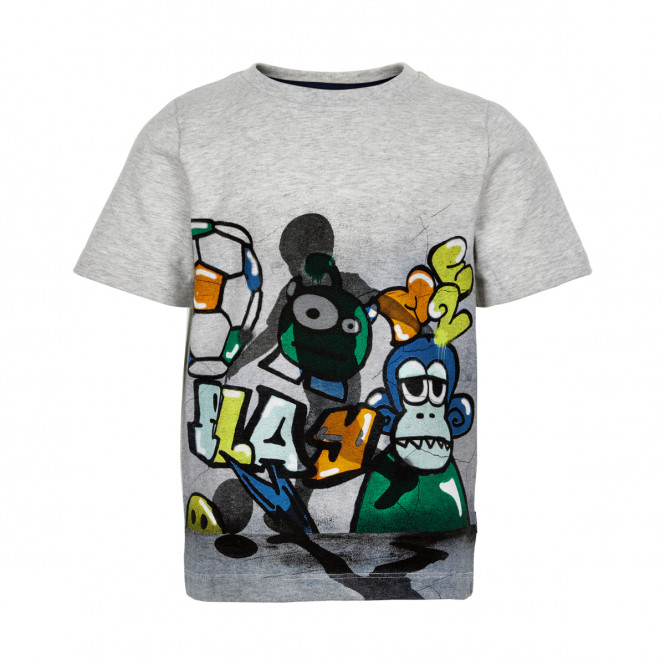T-shirt Grafitti Grå