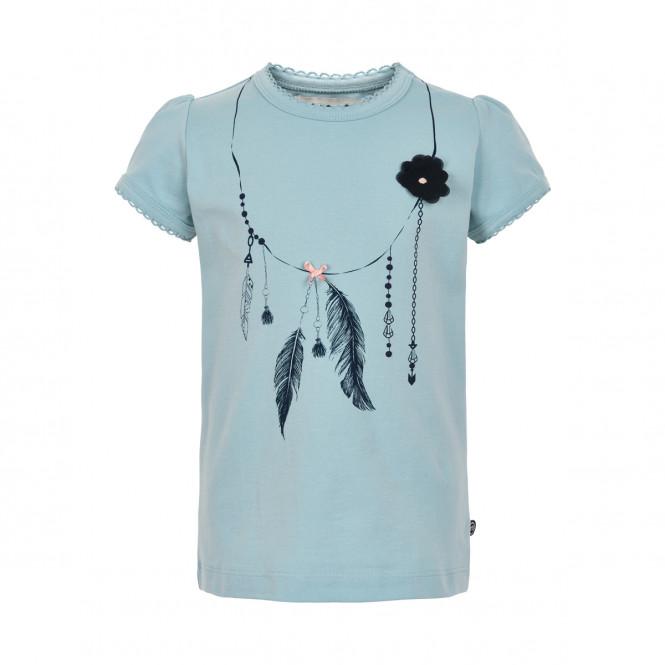 T-shirt Halsband Blå