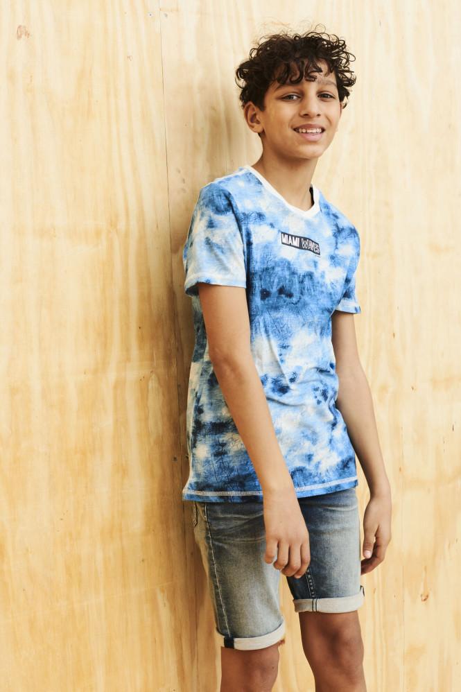 T-shirt Miami Waves Blue