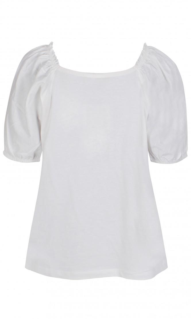 T-shirt Puffärm Off White