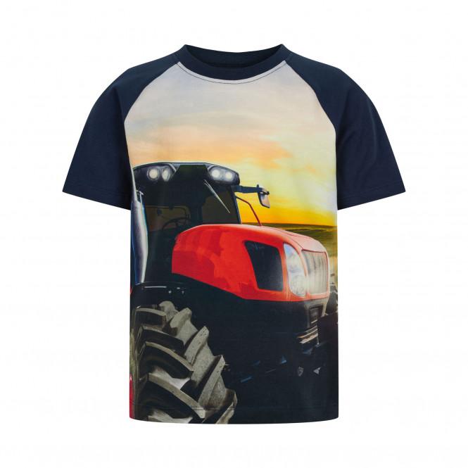 T-shirt Stor Traktor Blå