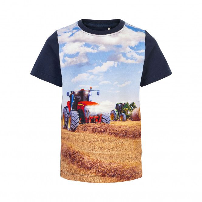 T-shirt Två Traktorer Blå