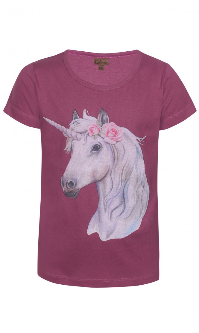 T-shirt Unicorn Rasberry