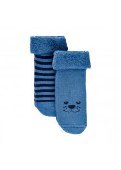 Babystrumpor Teddy 2-pack Celestial Blue
