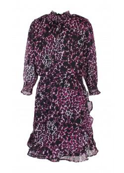 Klänning Bindi Leopard Rosa