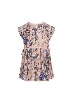 Blus Wildflower Print Rose Smoke