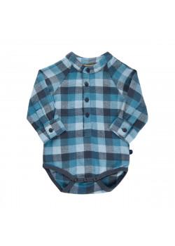 Bodyskjorta Rutig Ombre Blue