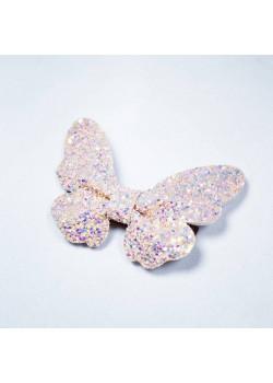 Fjäril Pink Glitter Clip