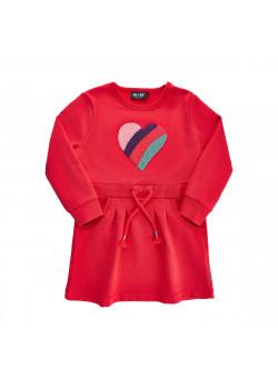 Sweatshirtklänning Hjärta Hibiscus