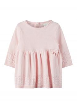 Stickad Klänning NBFLAEL Barely Pink