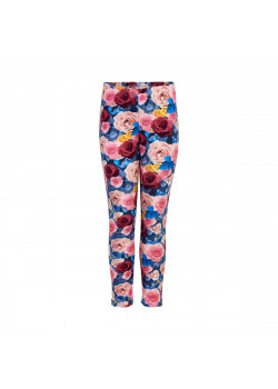 Leggings Blommor Blå