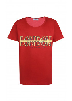 T-shirt London Roströd