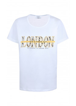T-shirt London Vit