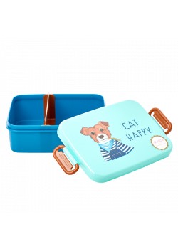 Rice Lunchbox Farm Animals Green/Blue