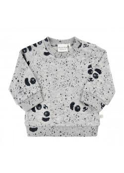 Sweatshirt Grey Melange Panda