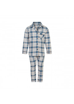 Pyjamas Set Rutig Faded Denim