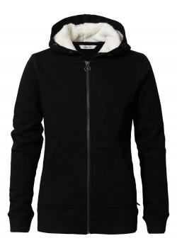 Sweater Hoodie w.Zip Svart