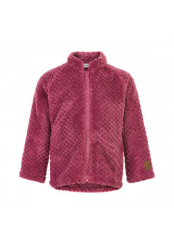 Teddy Jacket w. Zipper Rose Wine